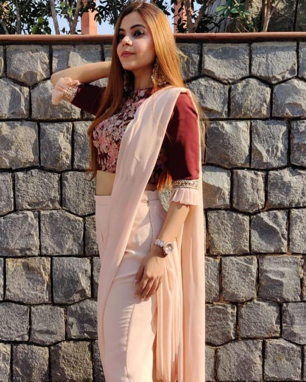 Classy Designer Fancy Dhoti Saree With Embroidered Blouse Piece