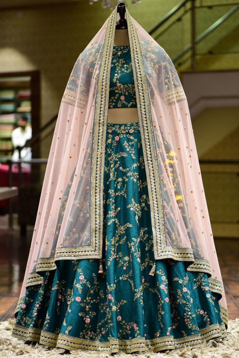 Latest Designer Green Color Wedding Lehenga Choli