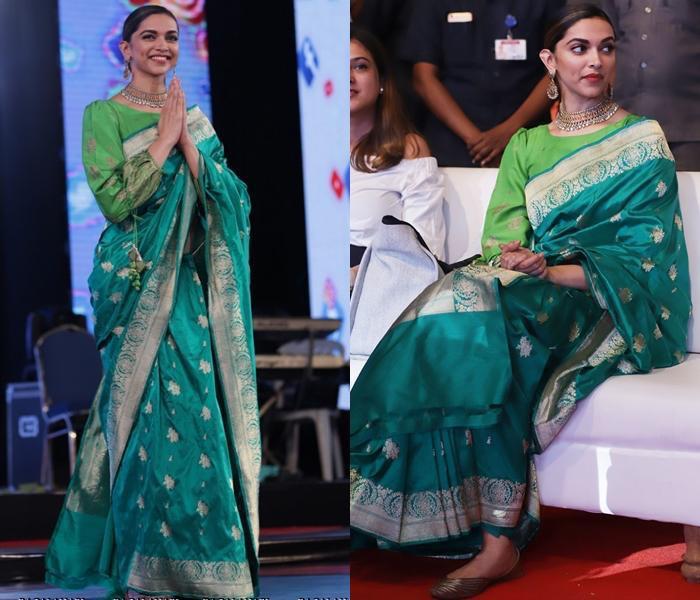 Traditional BollywoodHeavy Jecquard Weaving Green Saree