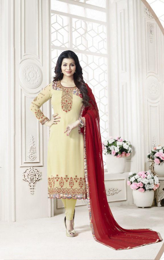 Classy Festival Wear Light Yellow Colour Dress With Dupatta