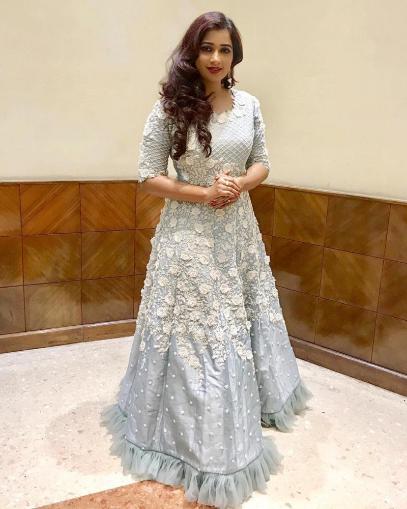 Party Wear Grey Color Latest Designer Gown
