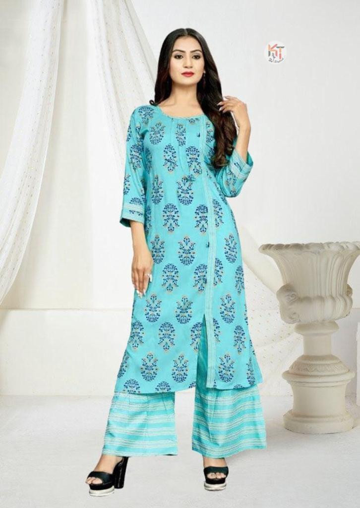 Gleaming Bottel Green Colour Colour Stylish Palazzo Suit