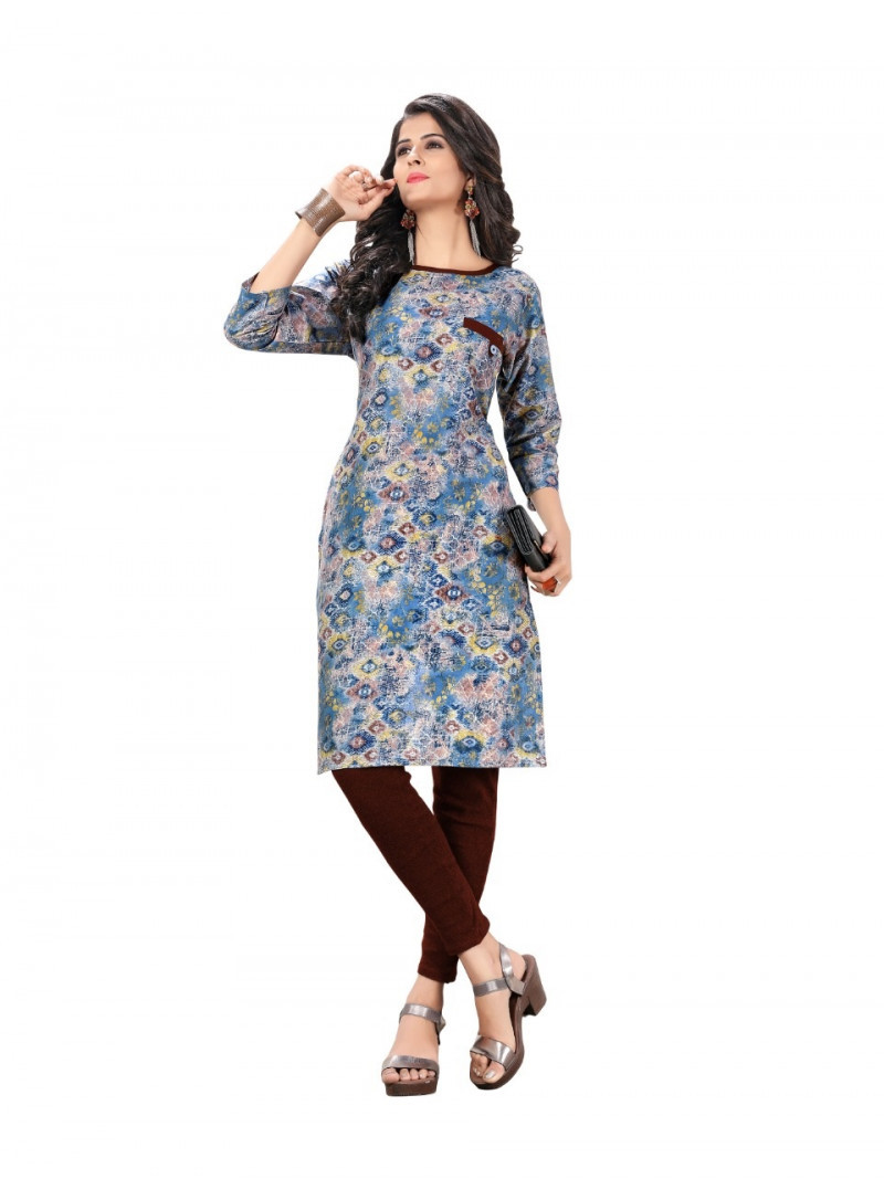Flaunt Multi Colour Cotton Kurti