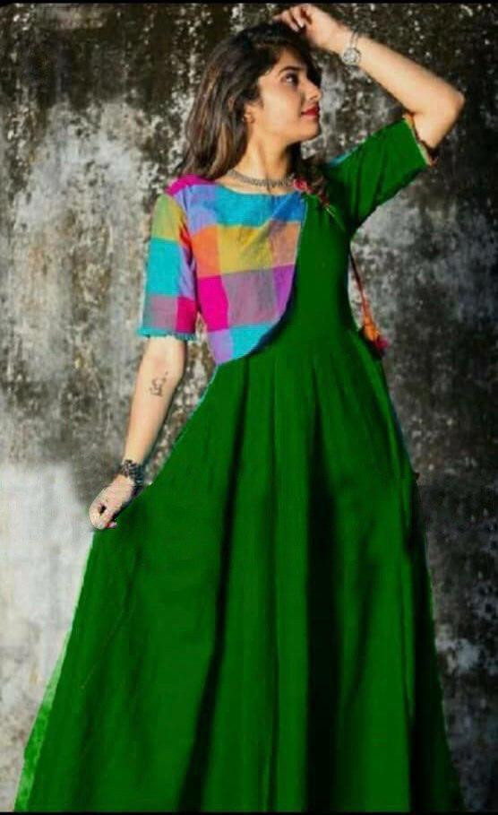Blushing Green Colour Cotton Kurti