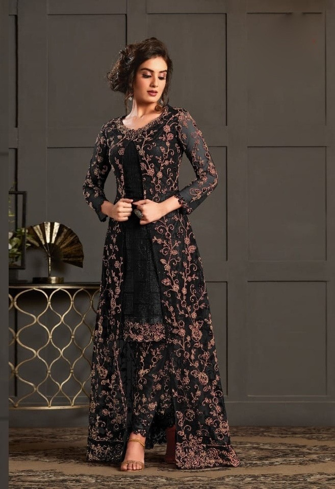 Latest Heavy Net And Embroidery Work Wedding Salwar Suit