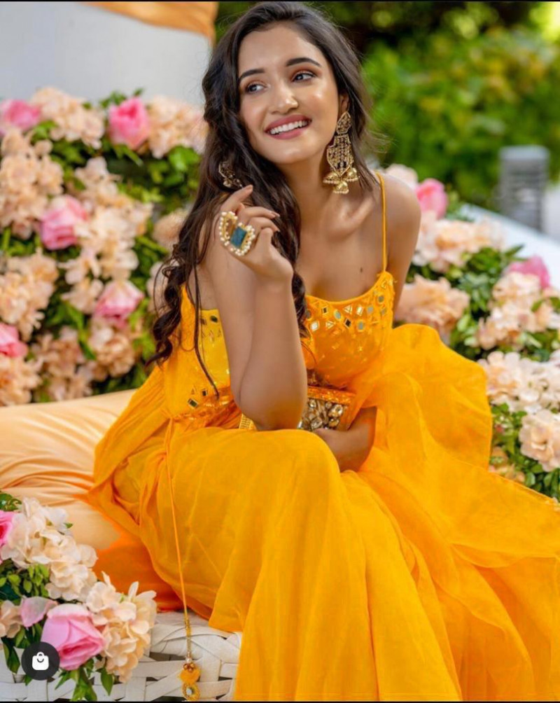 Yellow Color Heavy Hand Work Real Mirror Work Palazzo Suit For Haldi Ceremony