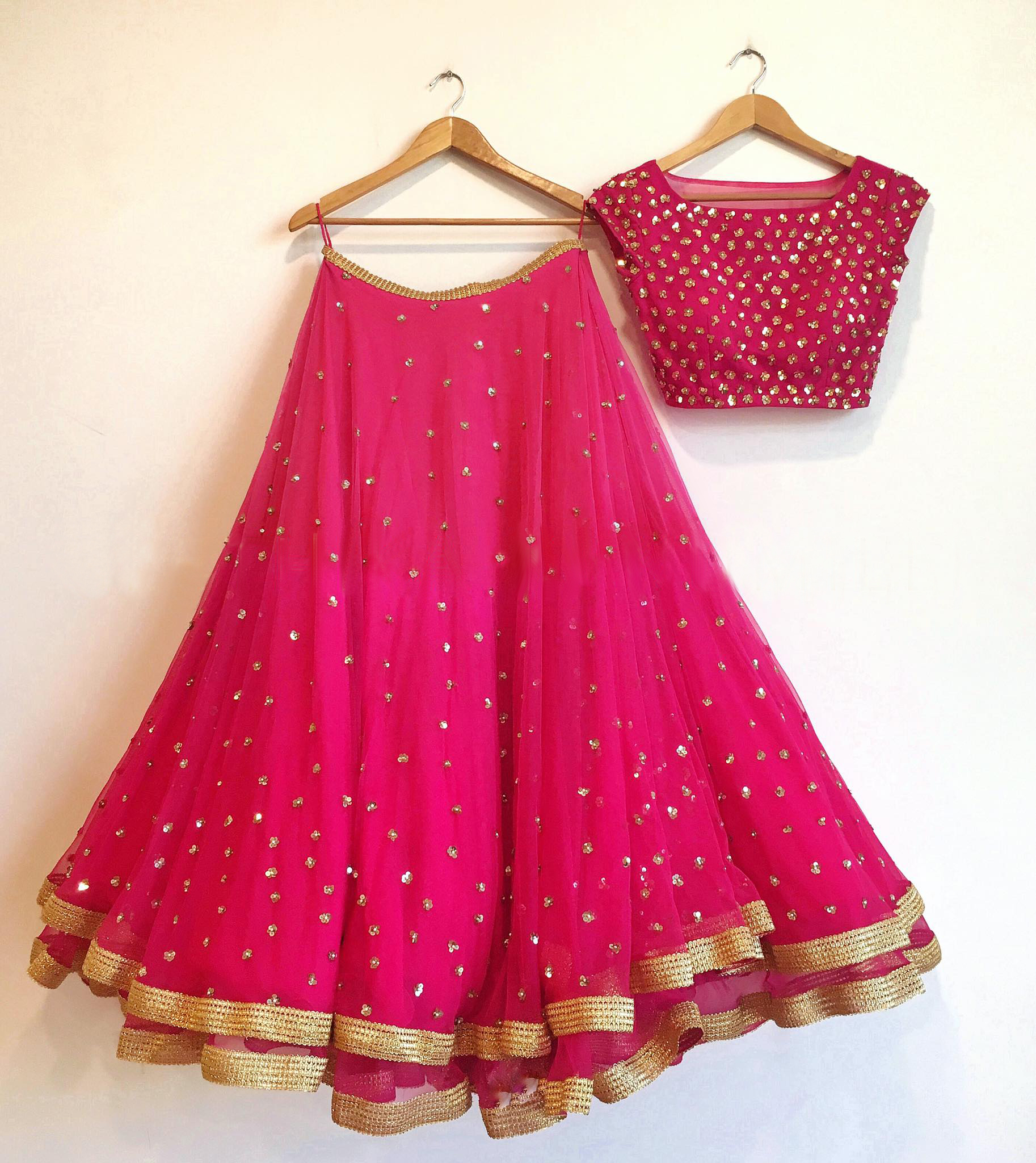 Latest Pink Sequence  Work Lehenga Choli