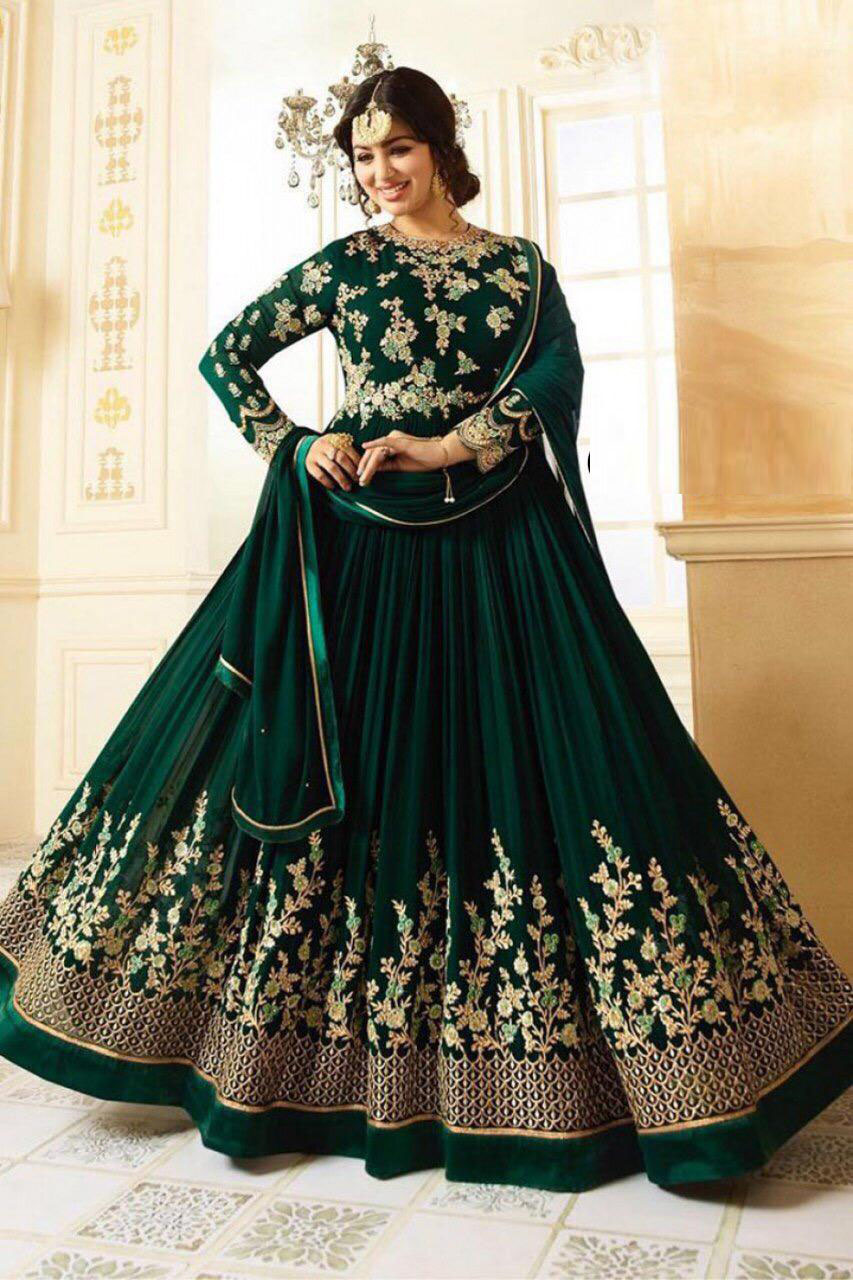 Faux Georgette Embroidery Work  Anarkali Suit