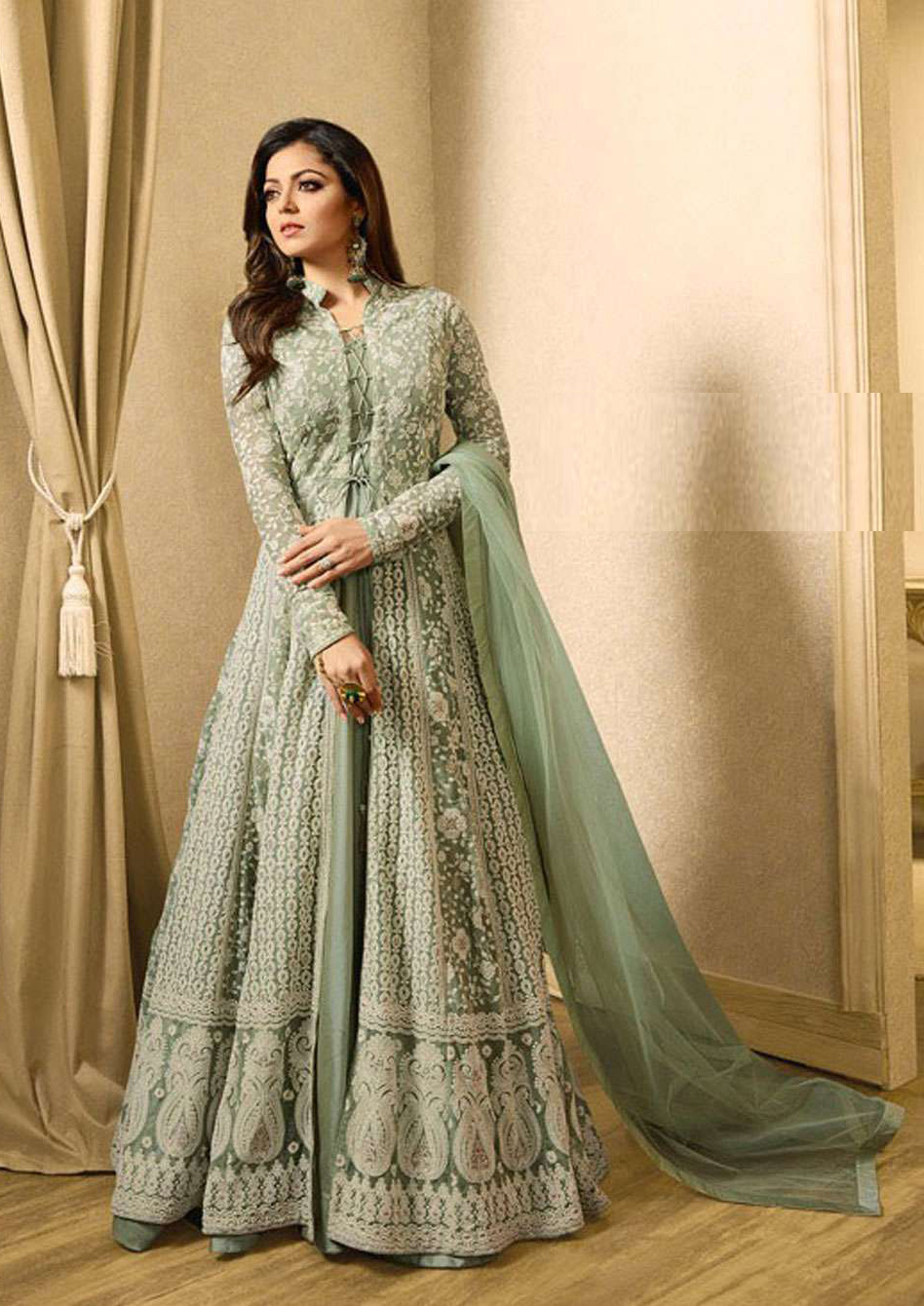 Latest Light Green Color Indian Salwar Suit
