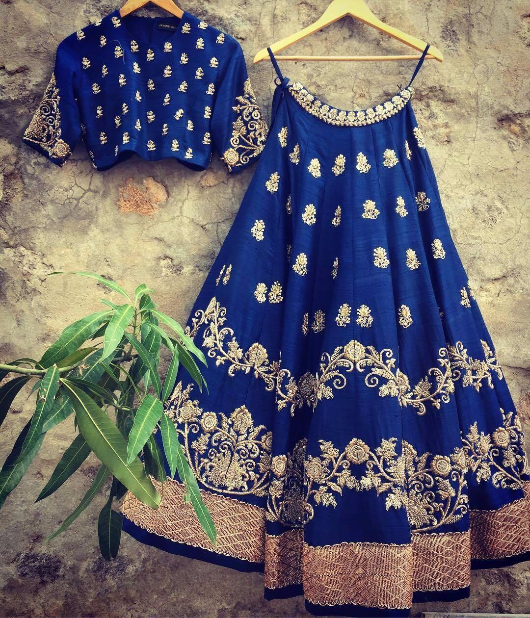 Designer Blue Lehenga Choli
