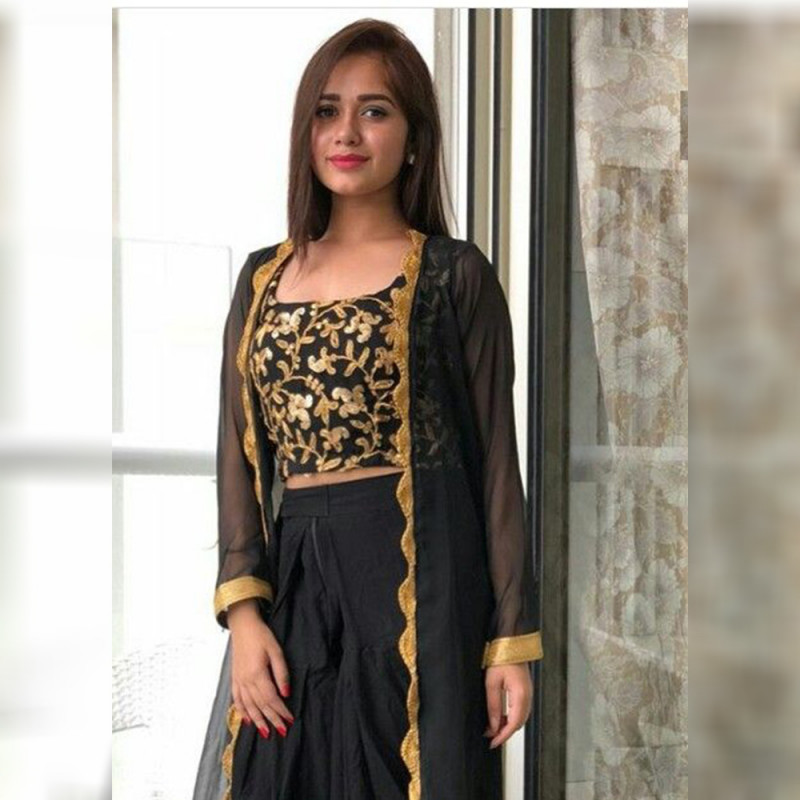 Exotic Party Wear Jannat Black Color Indowestern