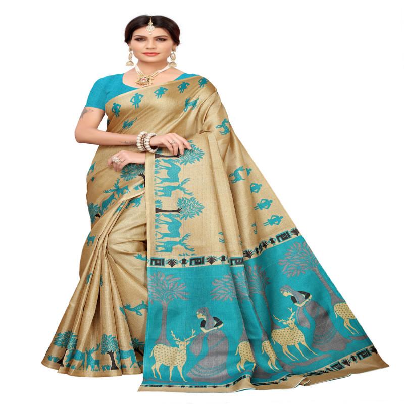 Festive Wear and designer printed khadi silk saree