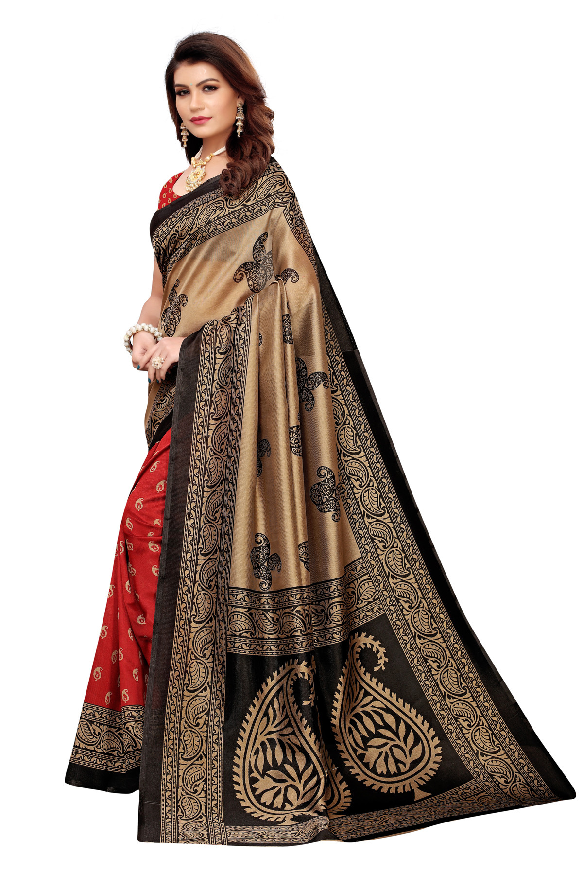 Designer Multi party wear Denting saree.