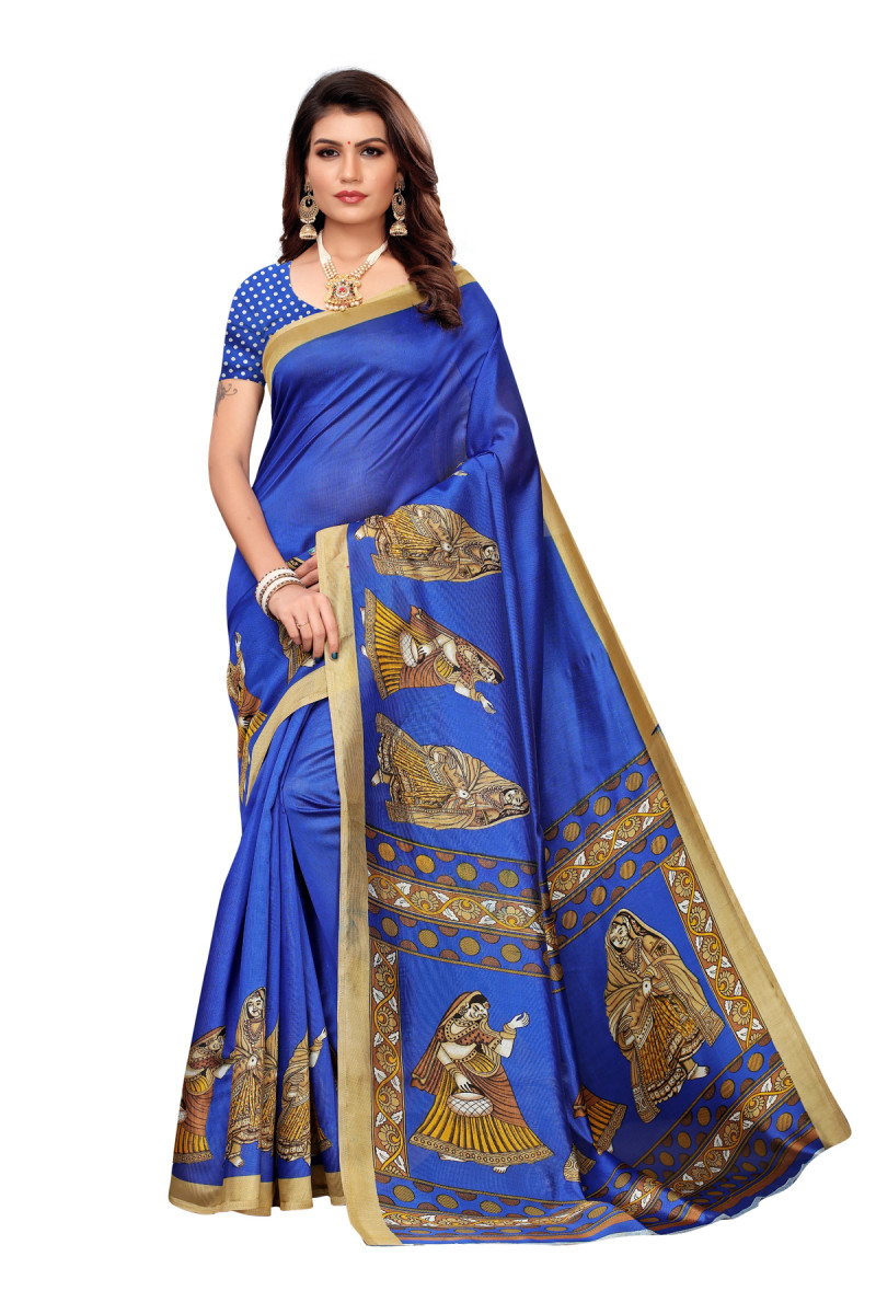 Designe rBlue Party  wear Denting saree