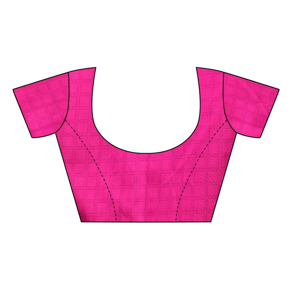 Designer Blue&Pink Party wear Denting saree