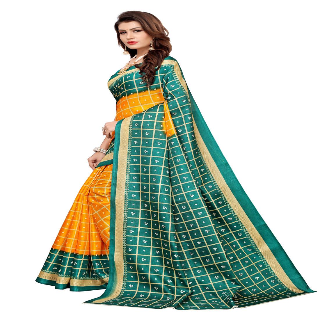 Designer and party  wear Khadi Silk saree