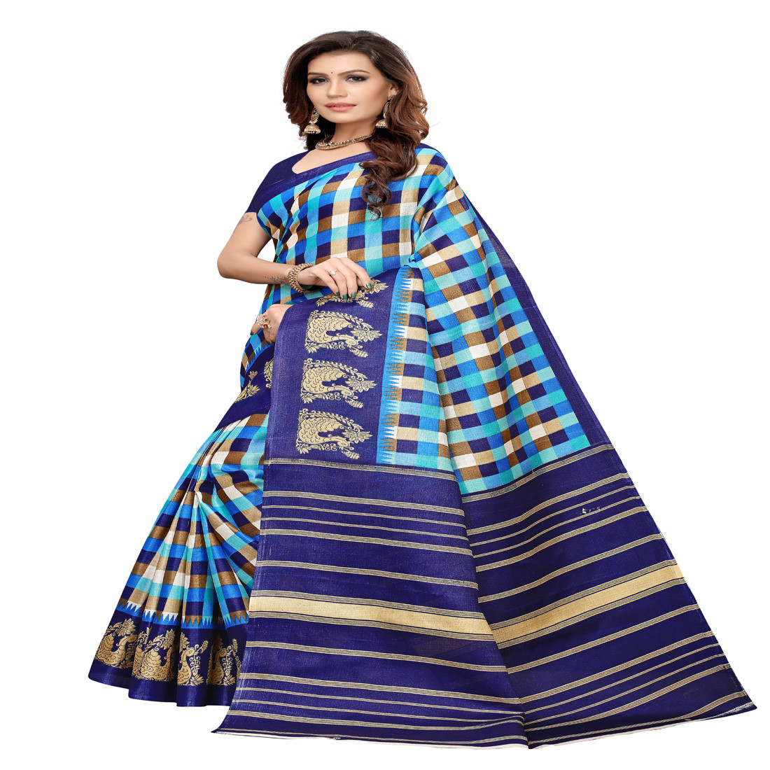Designer and party  wear Khadi Silk saree