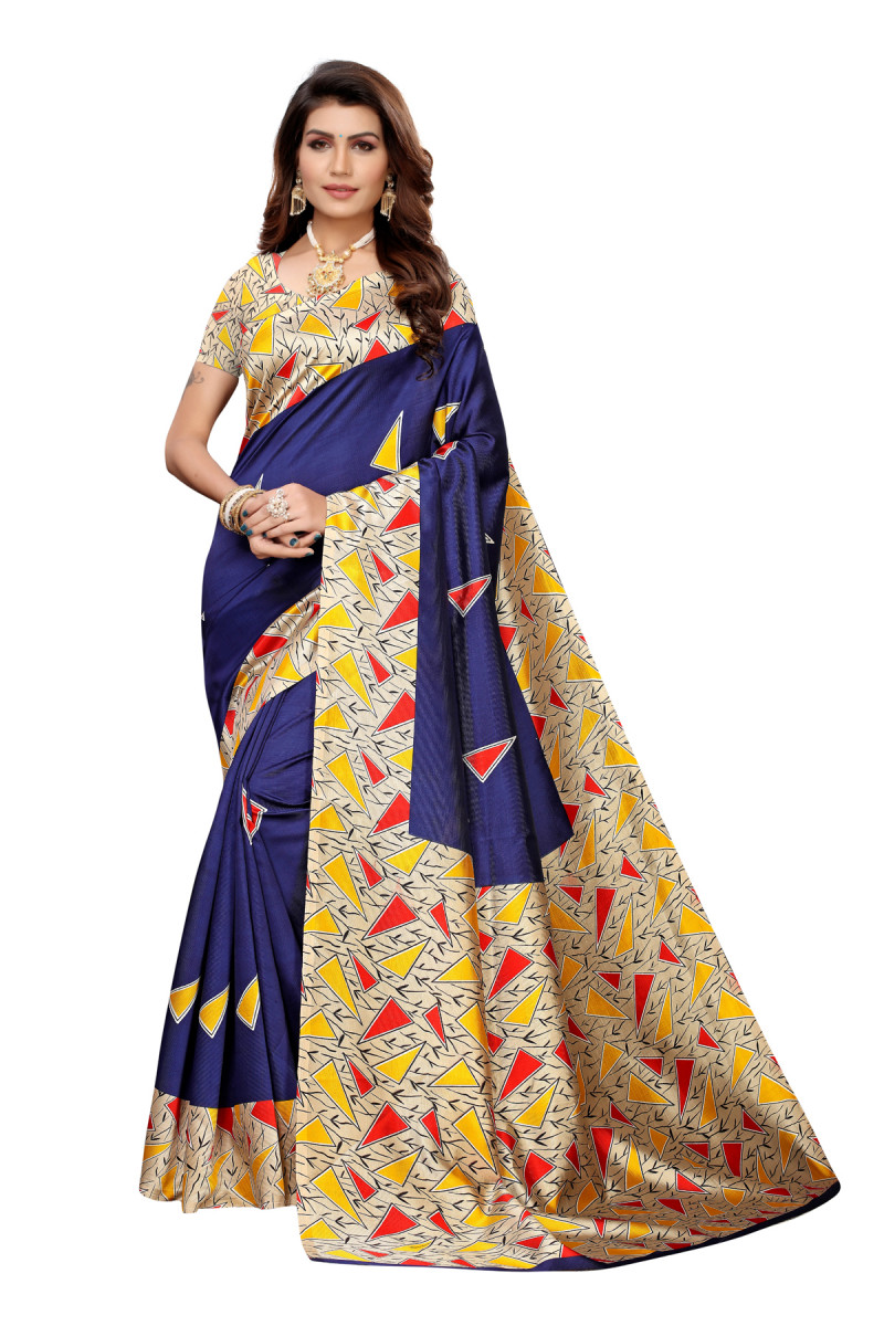 Designer Blue Party wear Denting saree