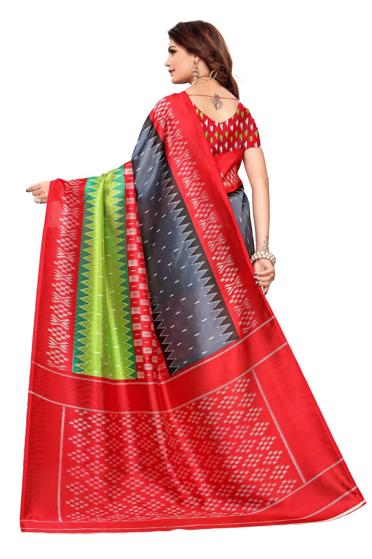 Designer MultiColor party wear Denting saree