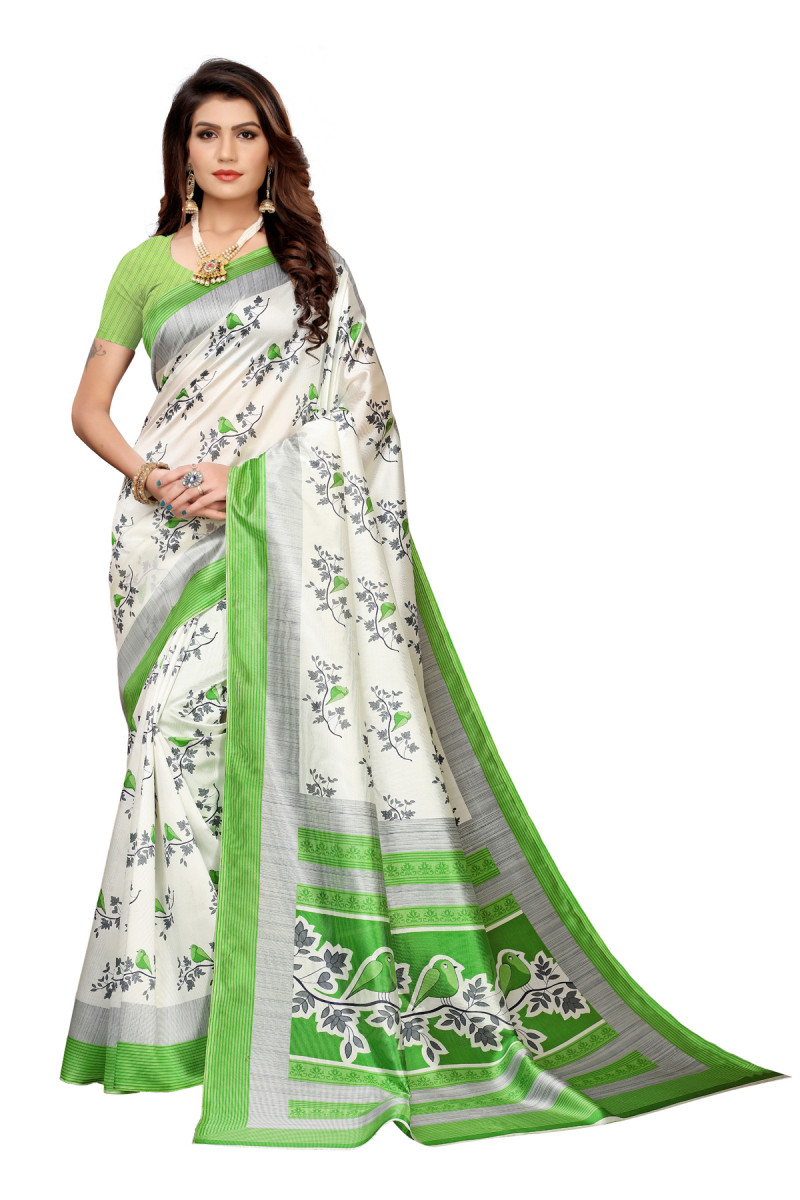 Designer  Green Party wear Denting saree