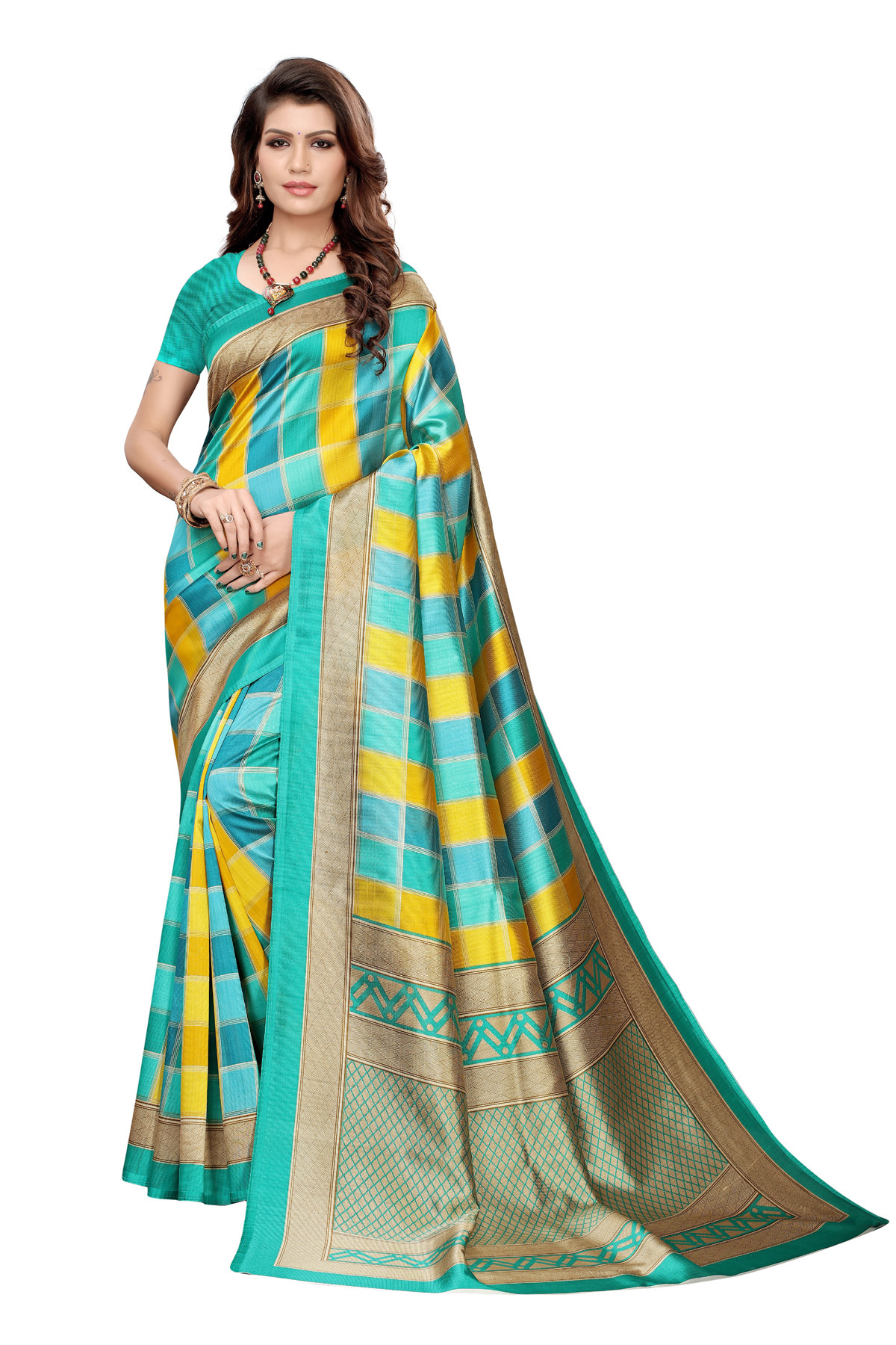 Latest Multi Party wear Denting saree