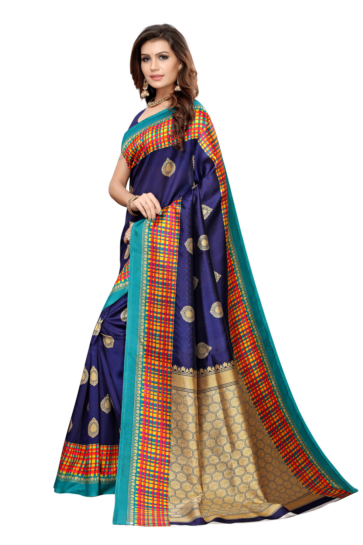 Latest Blue Party wear Denting saree
