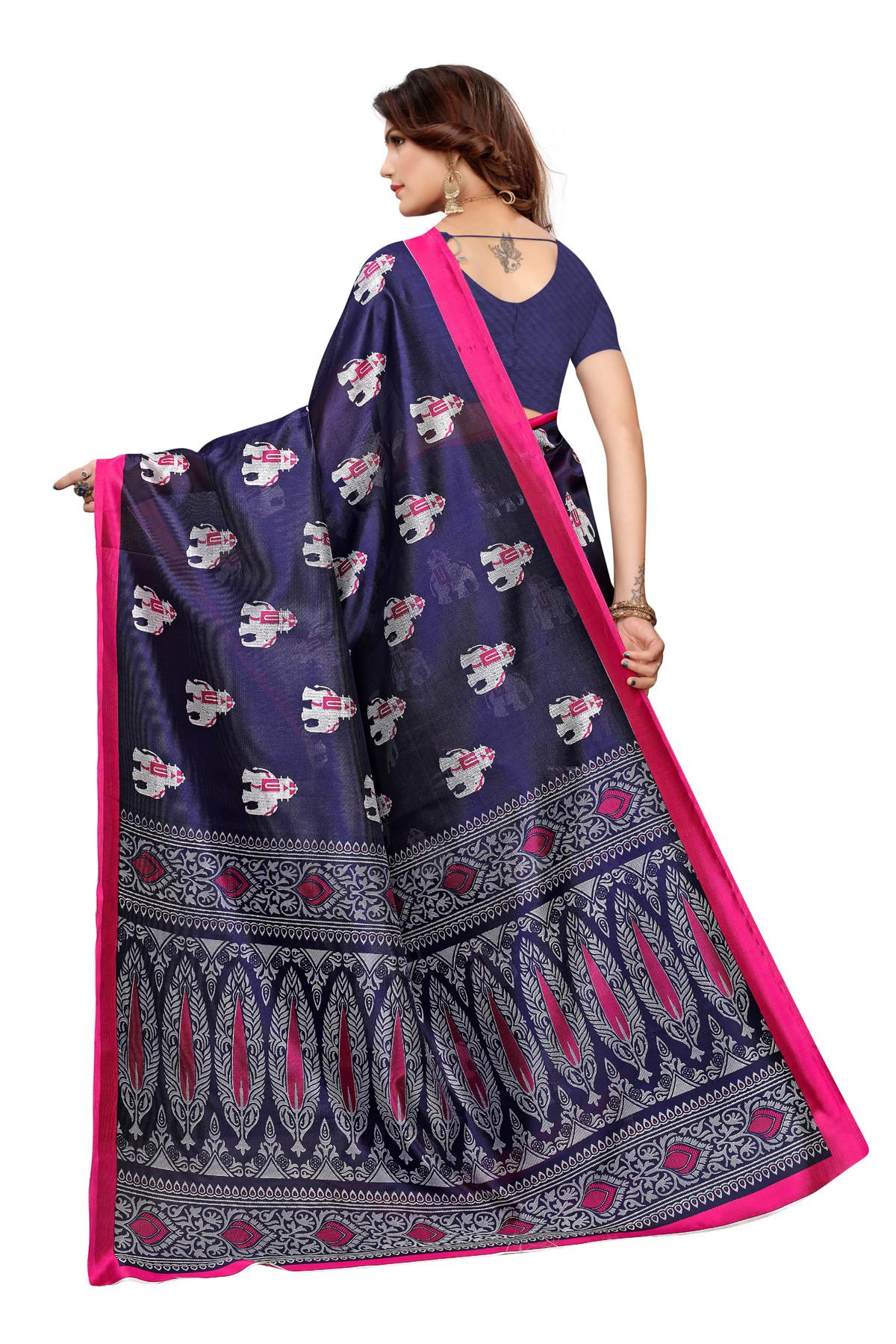 Designer BlueParty wear Denting saree