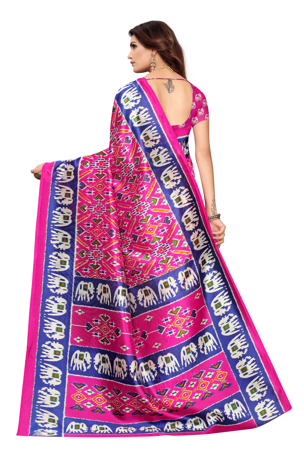 Amazing Ethnic Design Party Wear Pink Maysor Silk Saree