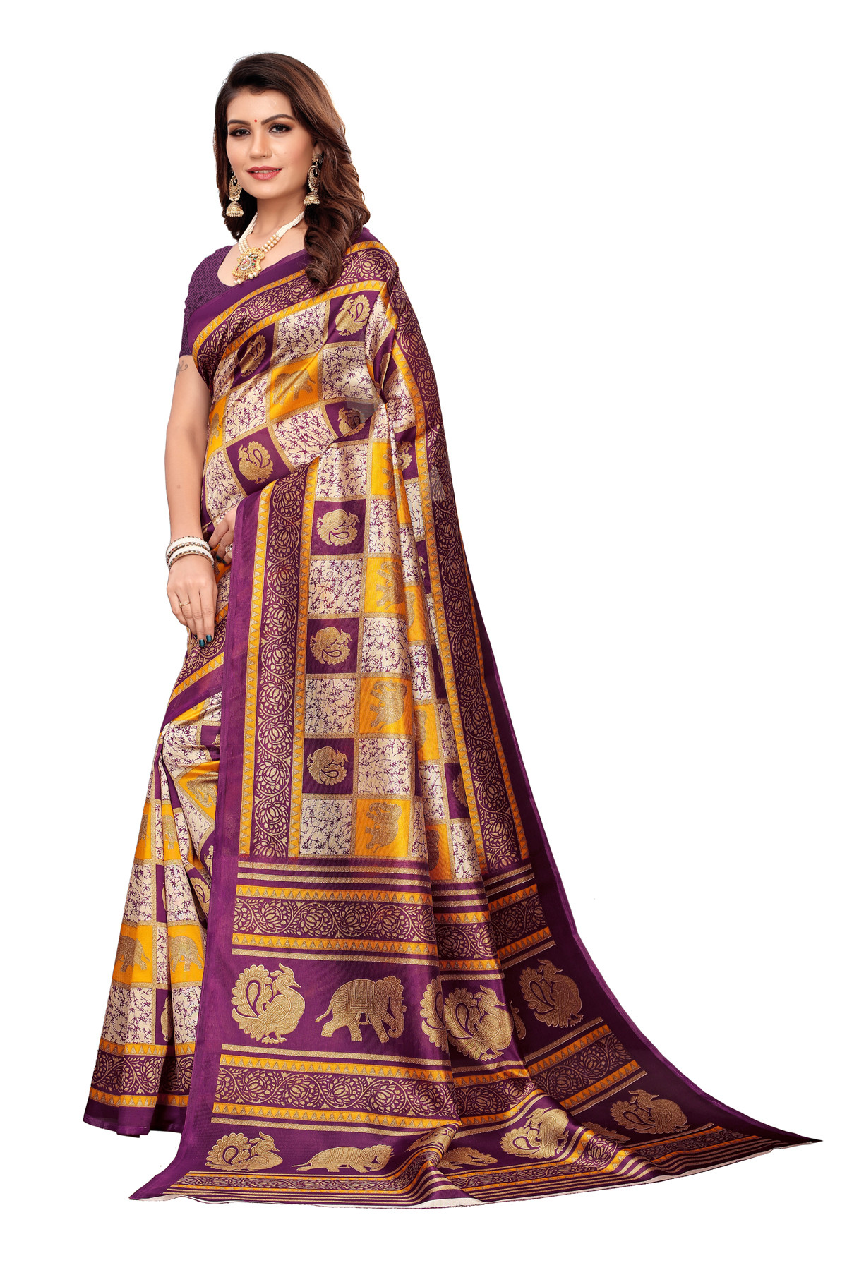 Designer  MultiColor  Party wear Denting saree