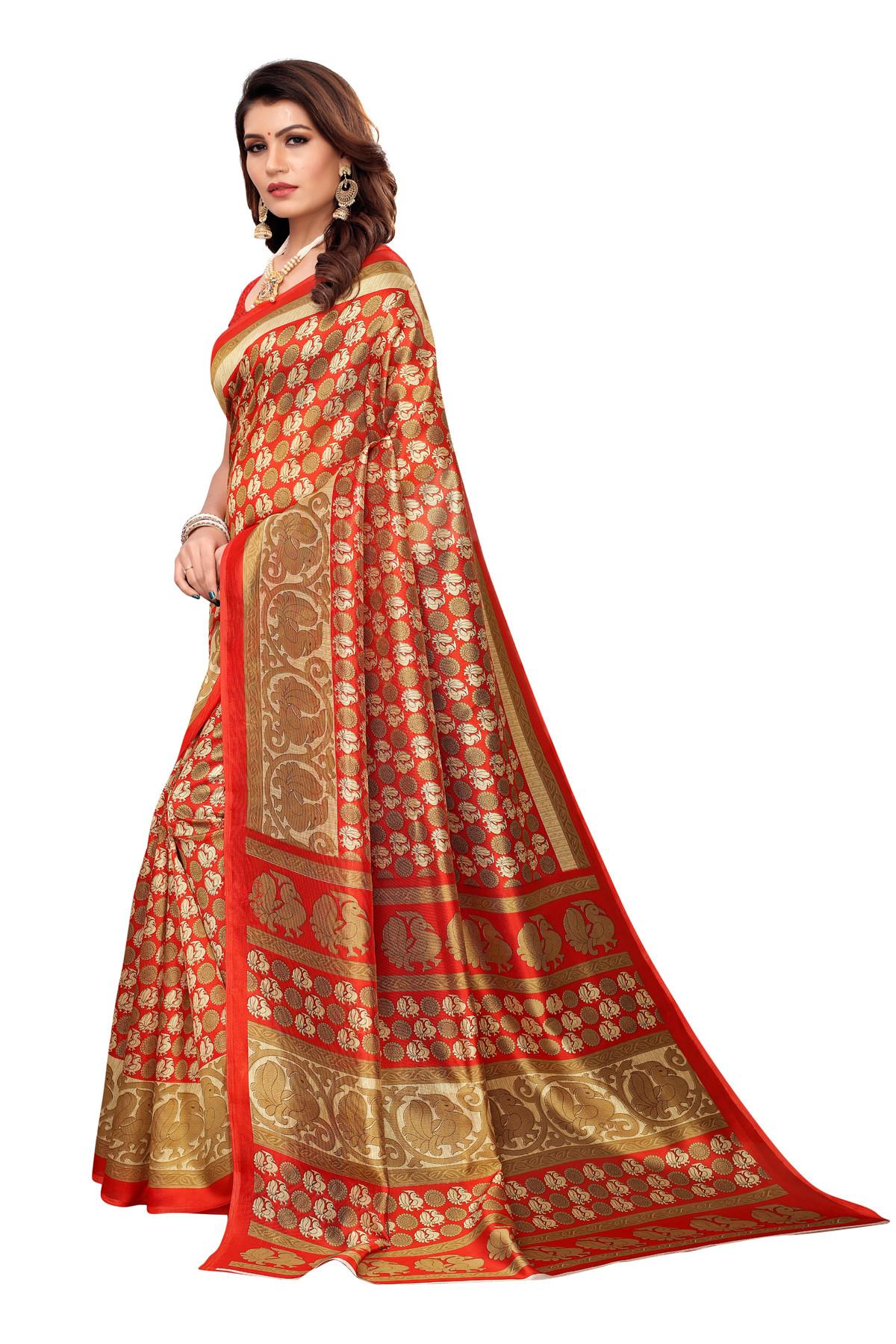 Designer Orange&Golden Party wear Denting saree