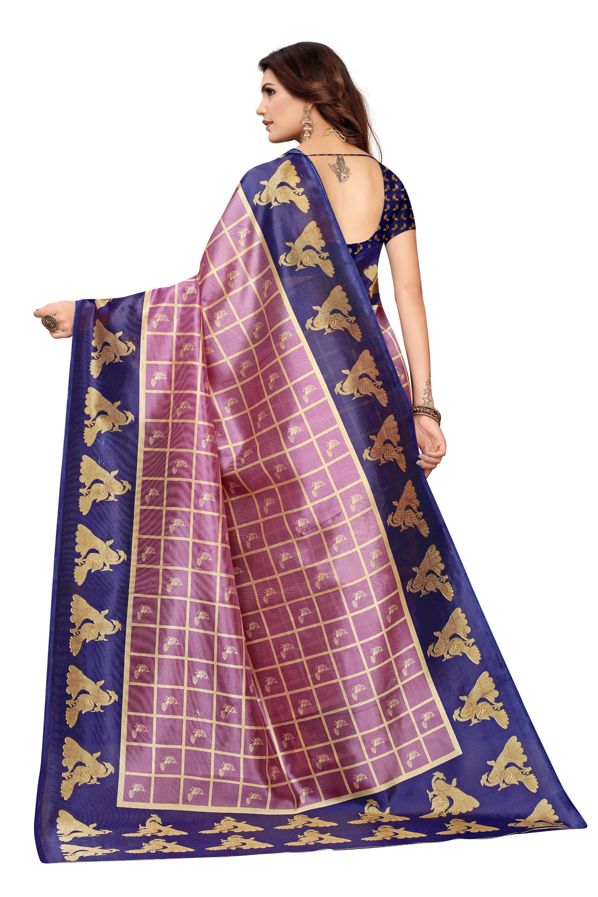 Amazing Ethnic Design Party Wear Blue Maysor Silk Saree