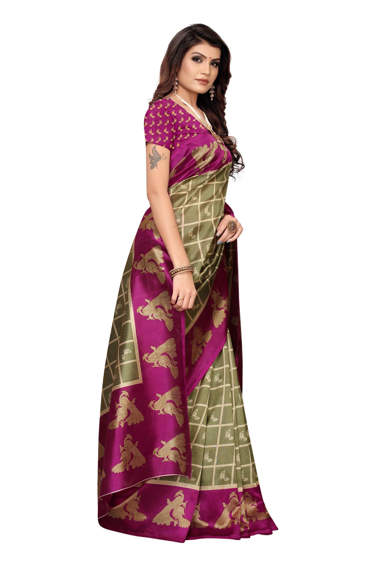 Amazing Ethnic Design Party Wear Pink Maysor Silk Saree