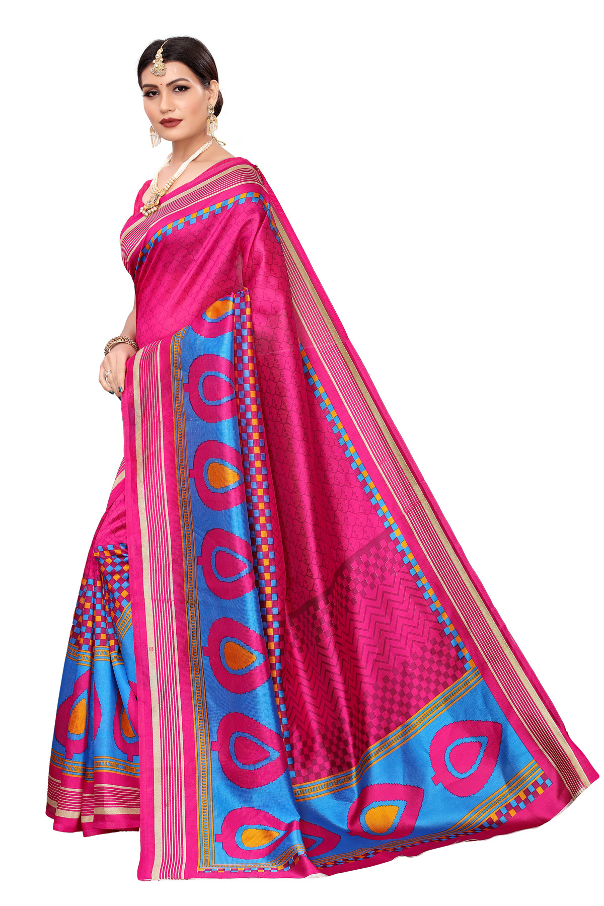 Designer  PinkParty  wear Denting saree