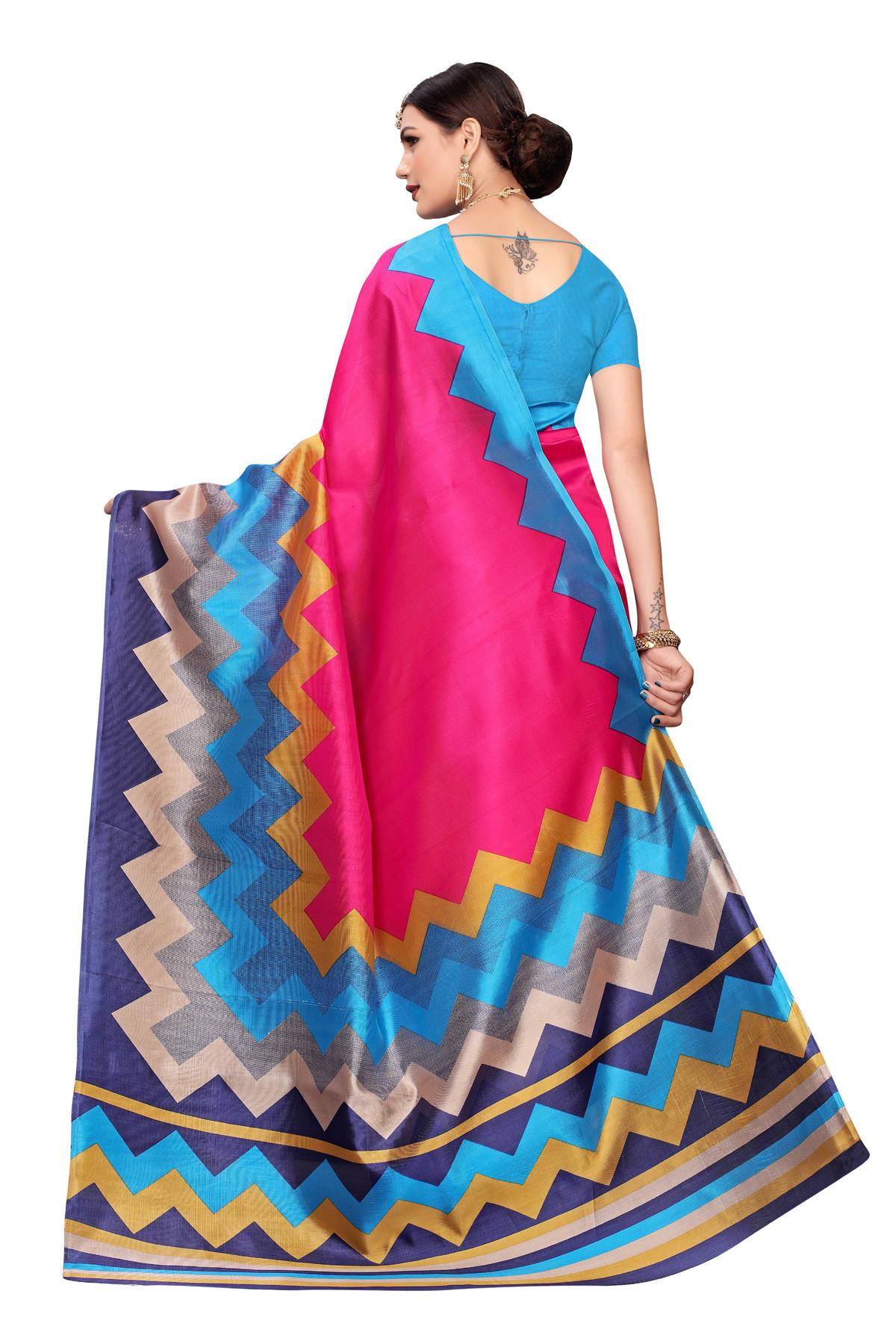 Designer MultiColorParty wear Denting saree