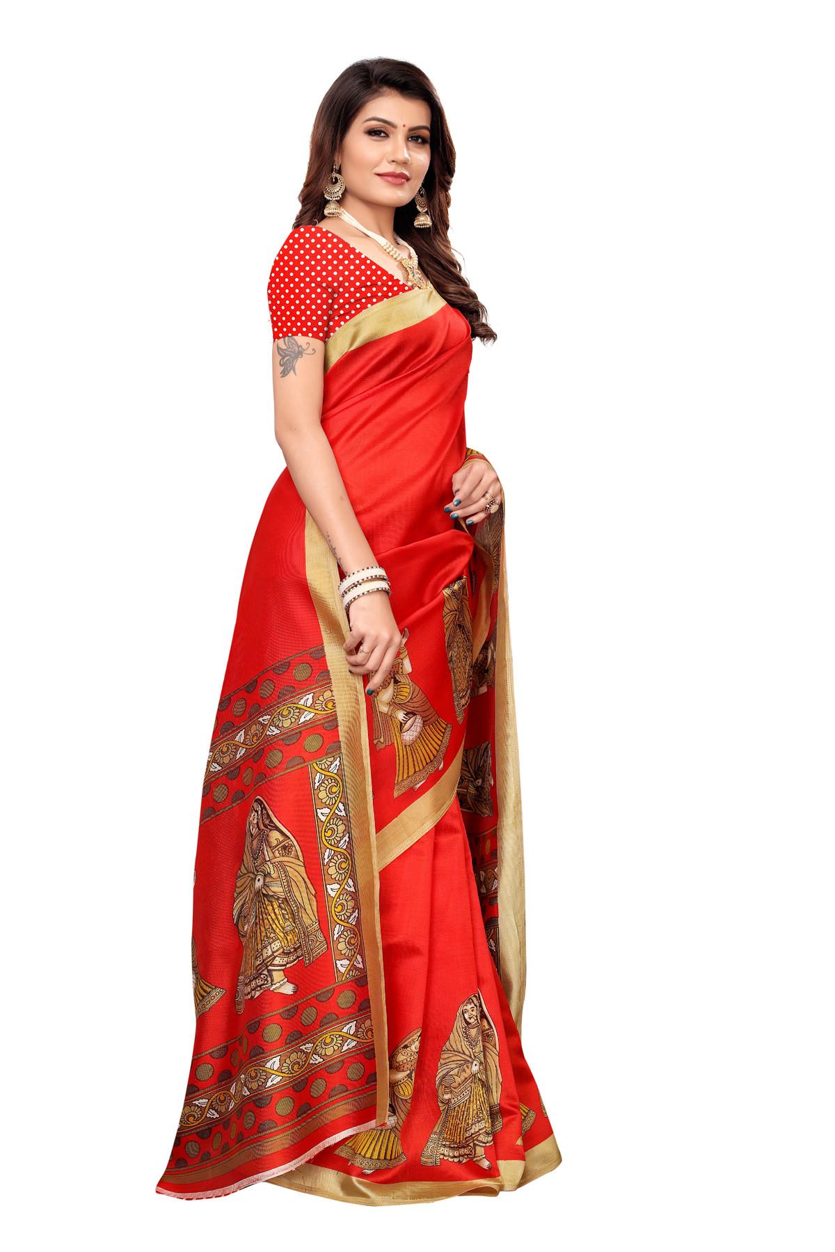 Designer Orange Party wear Denting saree