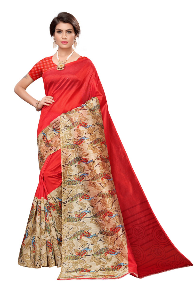Latest Red Party wear Denting  saree