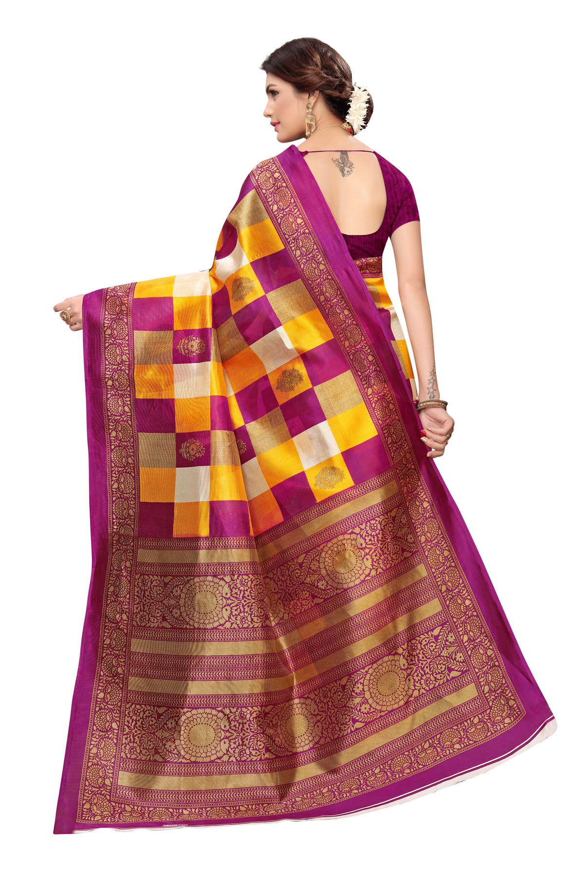 Latest Purple Party wearDenting saree
