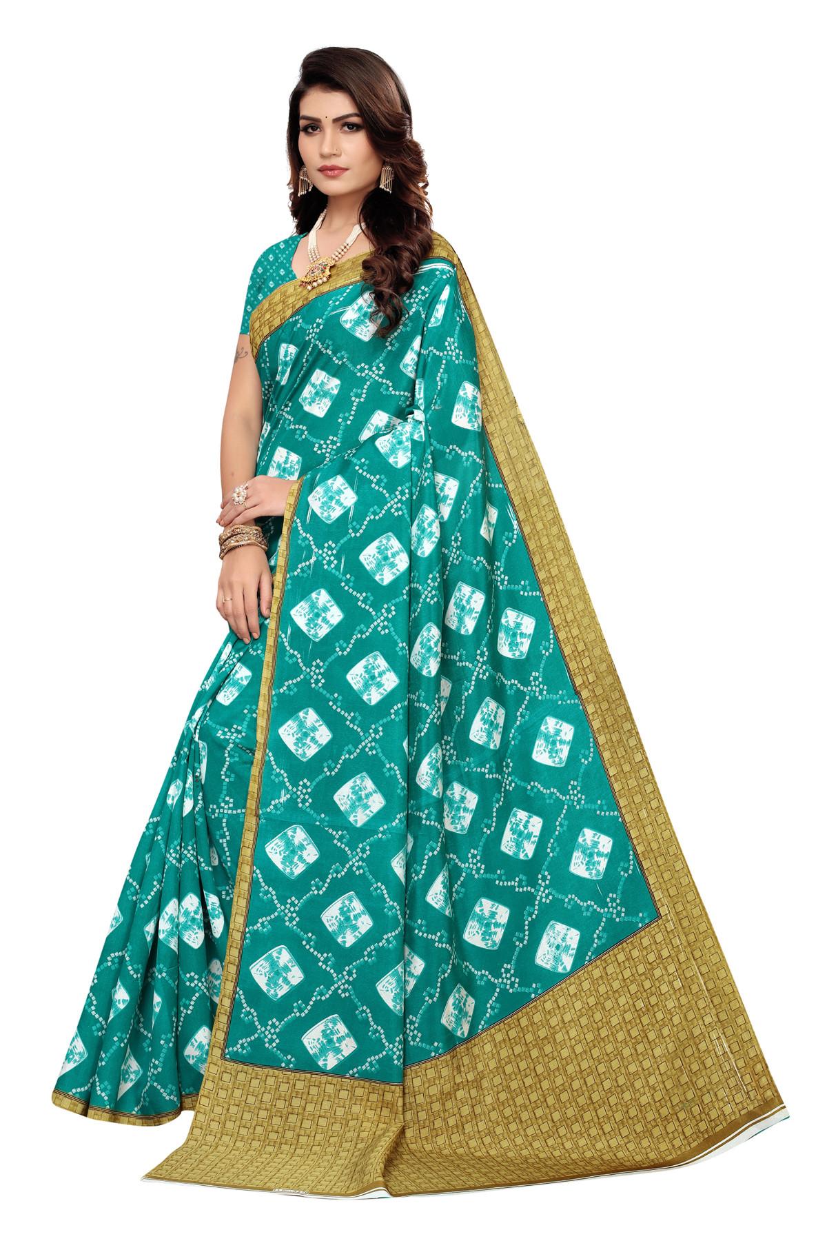 latest  party wear  Peacock Blue Color  Joya Silk saree