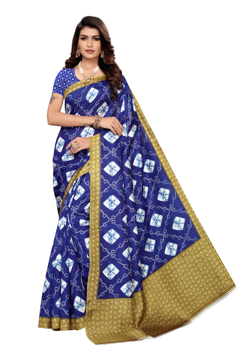 party  wear Dark blue Color  Joya Silk saree