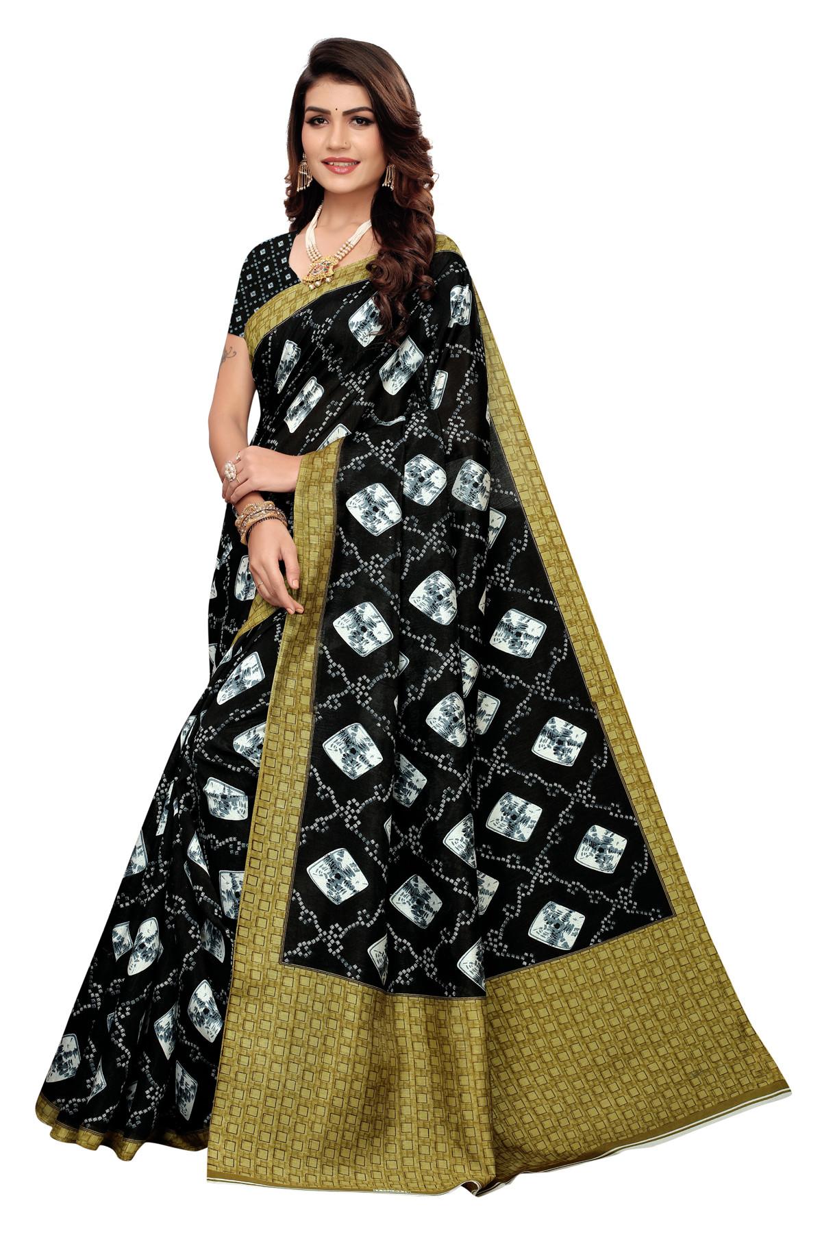 Black  wonderful  party  wear Joya Silk saree