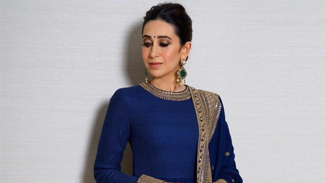 Karishma Kapoor Royal Blue Color Designer Anarkali Suit