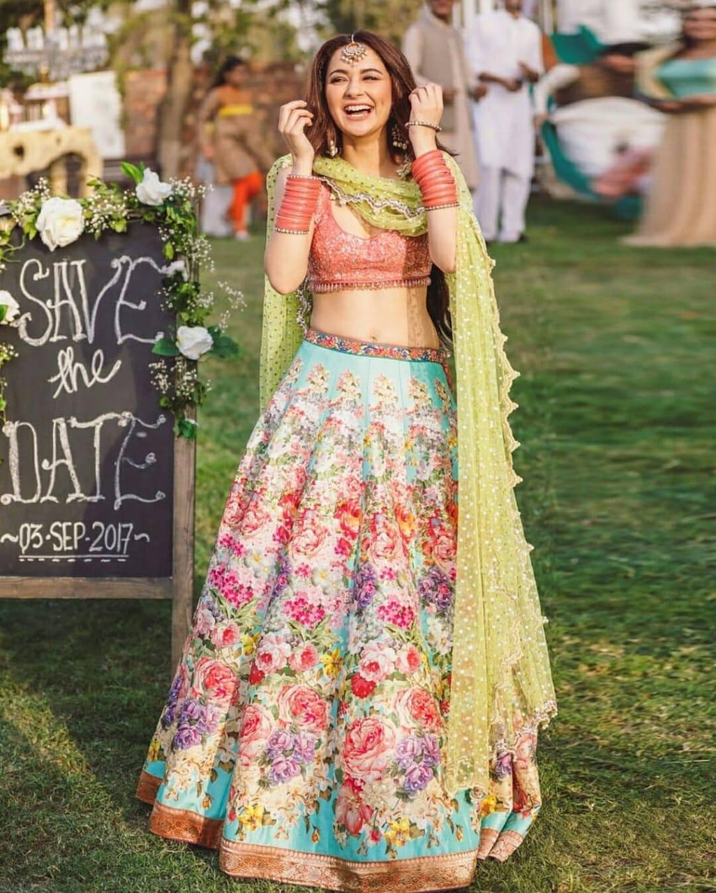 Latest Taffeta Silk Digital Printed Lehenga Choli