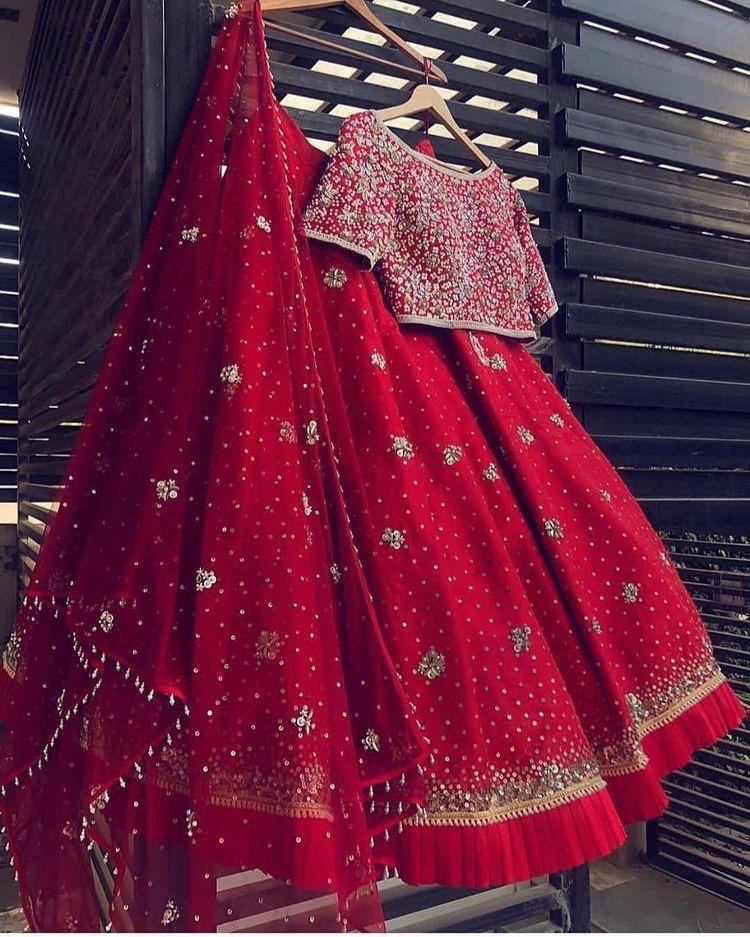 Exclusive Taffeta Silk With Embroidery Work Lehenga Choli