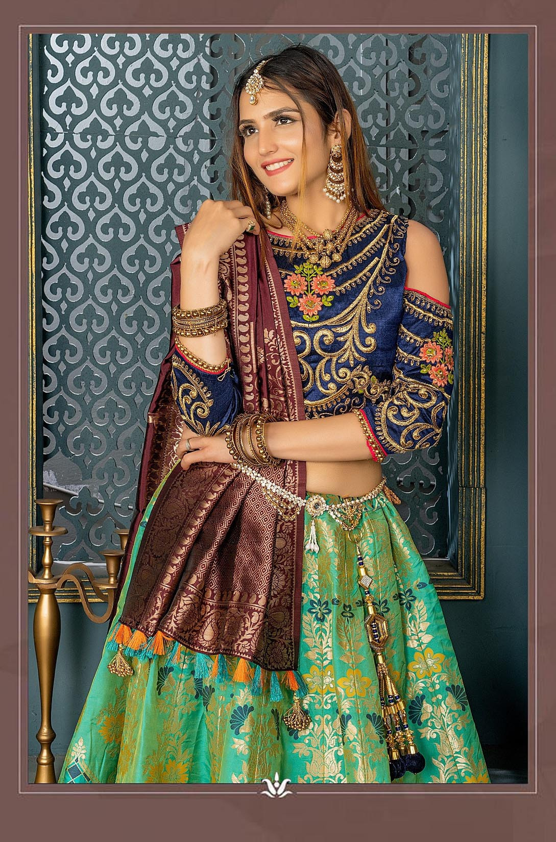 Green Color Wedding Wear Lehenga Choli