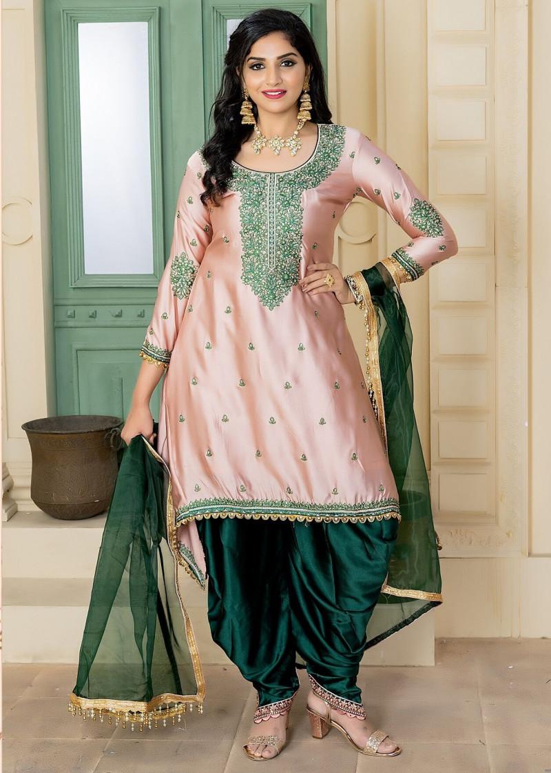 Outstanding Lemonade  Color Party Wear Embroidery Work  Salwar  Suit