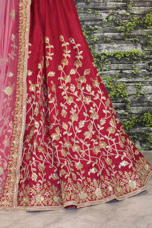 Amazing Maroon Color Wedding Wear Lehenga Choli