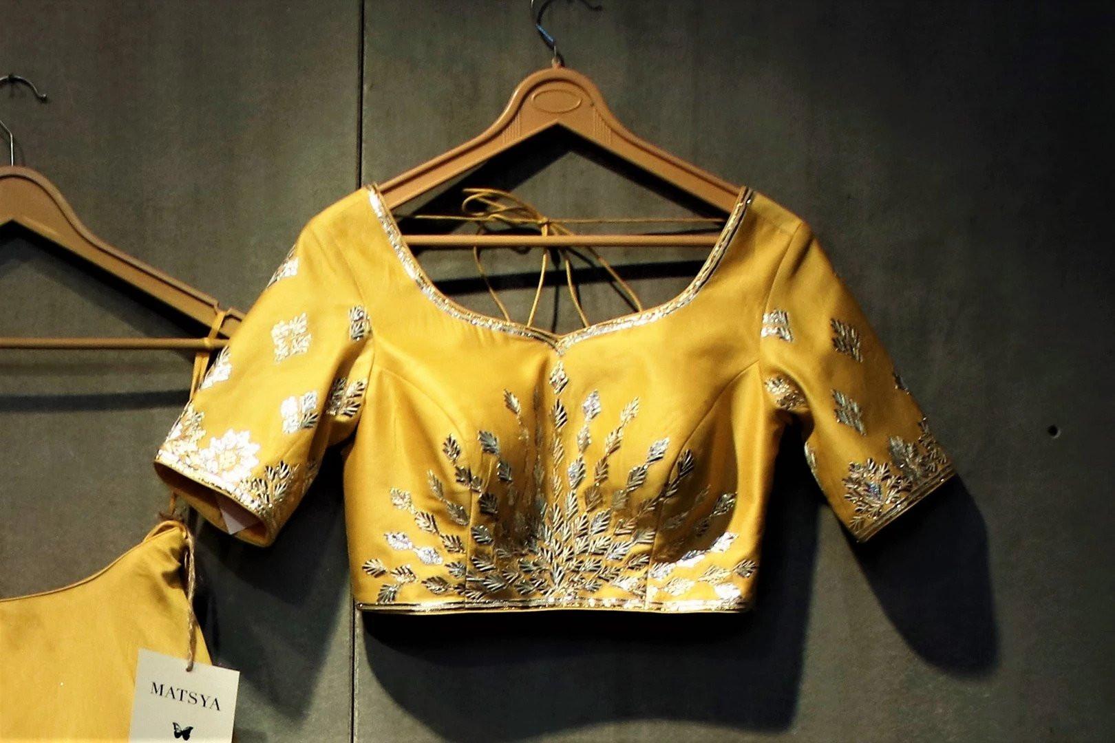 Latest Disigner Yellow Color Wedding Wear Tiger Silk Lehenga Choli