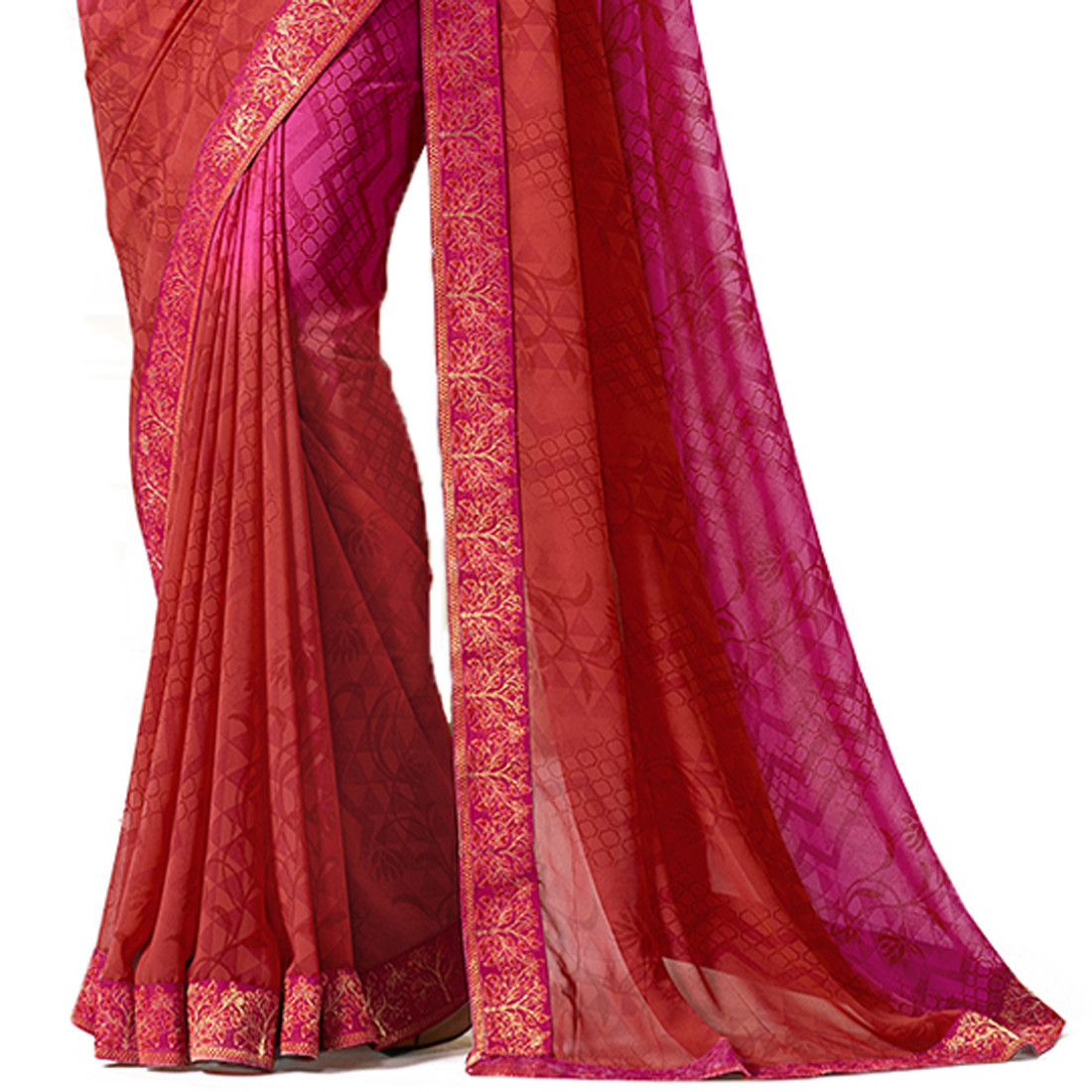 Amazing Georgette Unstitch Blouse And Saree