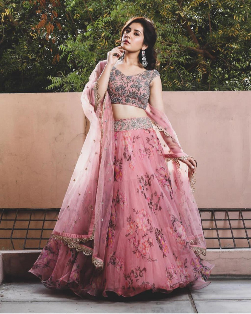 New Type of Pink Color Lehenga Choli