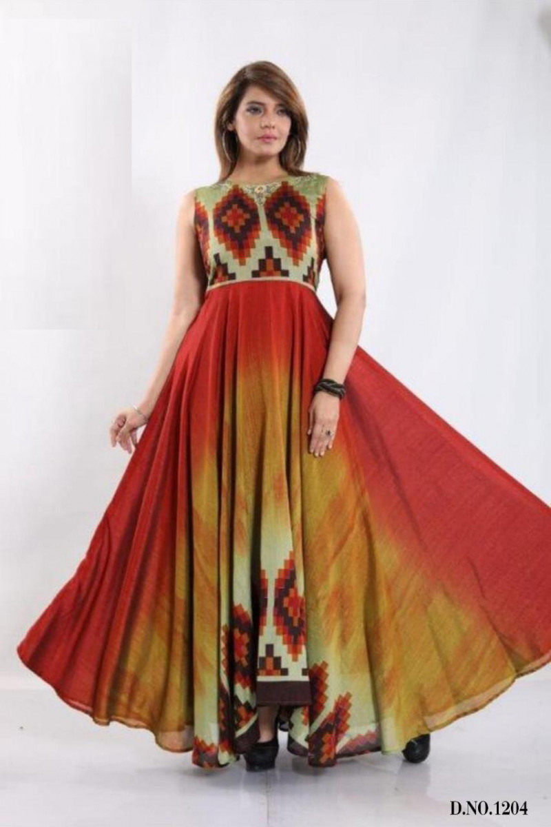Disparate Multi Color Gown